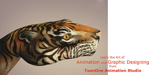 picture of hand painted like a face of tiger